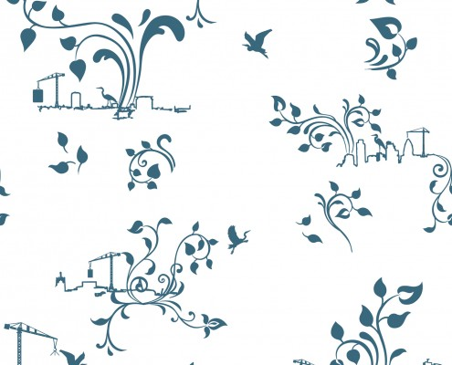 FLOW City Toile wallpaper, detail