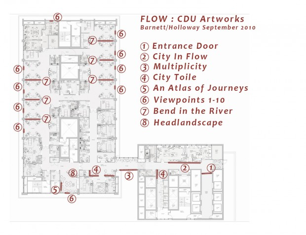 FLOW Site plan of integrated artworks