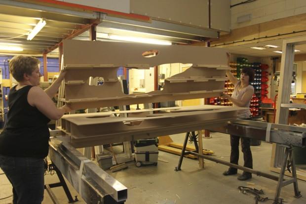 PMI work in progress - Proto... MDF mock-up at Mike Smith Studio