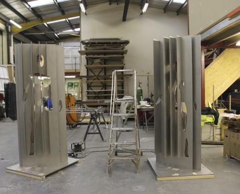 PMI work in progress - Proto... welding steel figures at Mike Smith Studio