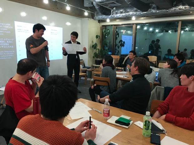 people presenting at a workshop at BioClub Tokyo